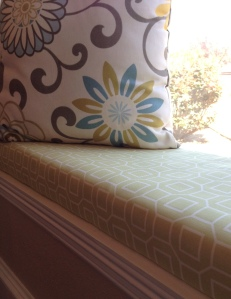 No Sew Window Seat Cushion