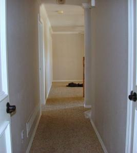 Upstairs Hallway Before 1