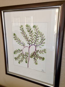 Watercolor Fern Close up 2