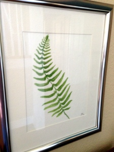 Watercolor Fern Close up 3