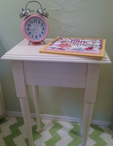 Painted Side Table Girls Room Lid Closed