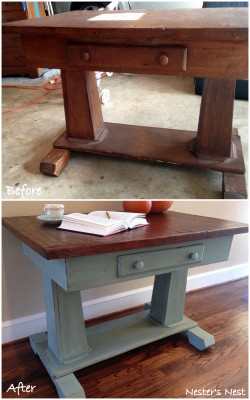Rustic Antique Library Table Collage