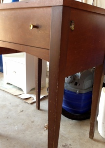 Vintage Sewing Table Before 4