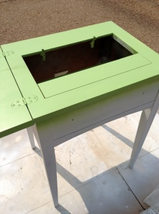Vintage Sewing Table first layer of paint