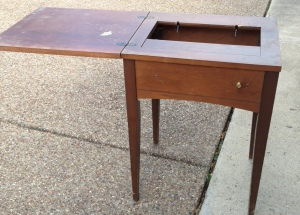 Vintage Sewing Table Lid Open