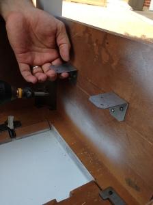 Vintage Sewing Table Making Shelf 3