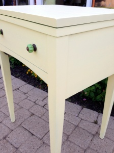 Vintage Sewing Table Turned Beverage Side