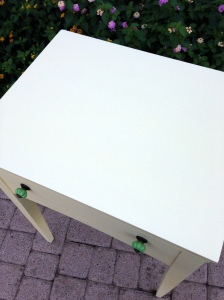 Vintage Sewing Table Turned Beverage Top