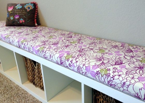 No Sew Bench Seat Purple Detail