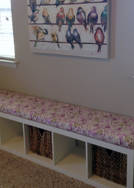 No Sew Bench Seat Purple