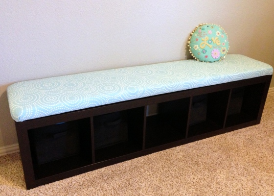 No Sew Bench Seat Turquoise