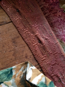 Vanity Bench Old Fabric 2