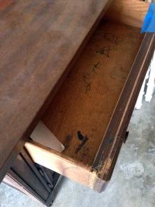 Vintage Bedside Table Drawer Detail