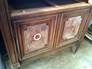 Vintage Bedside Table Front Detail