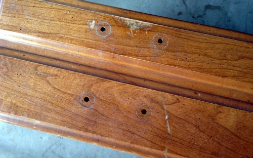 Hammary End Table Drawer Detail Before