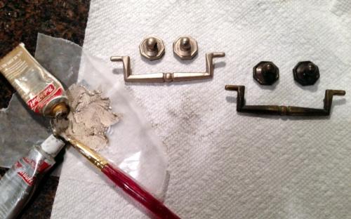 Hammary End Table Hardware Rub N Buff