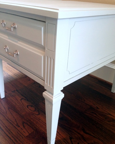 Rainy Day Blue Gray Before Amp After End Tables Painted
