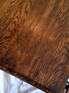 Oak Table Turned Farmhouse Table Blotchy Finish