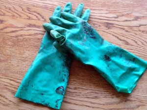 Oak Table Turned Farmhouse Table Gloves