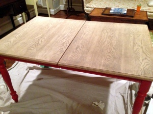Oak Table Turned Farmhouse Table Stripped Second Time