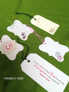 Christmas Tags with Watermark