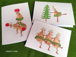 Dancing Cheering Reindeer with Watermark