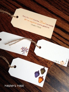 Thanksgiving Tags with Watermark