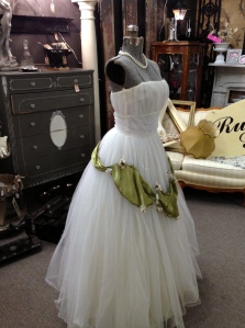 Antique Mall Booth with Wedding Dress