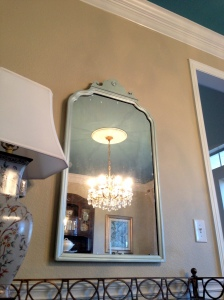 Painted Antique Mirror for Dining Room