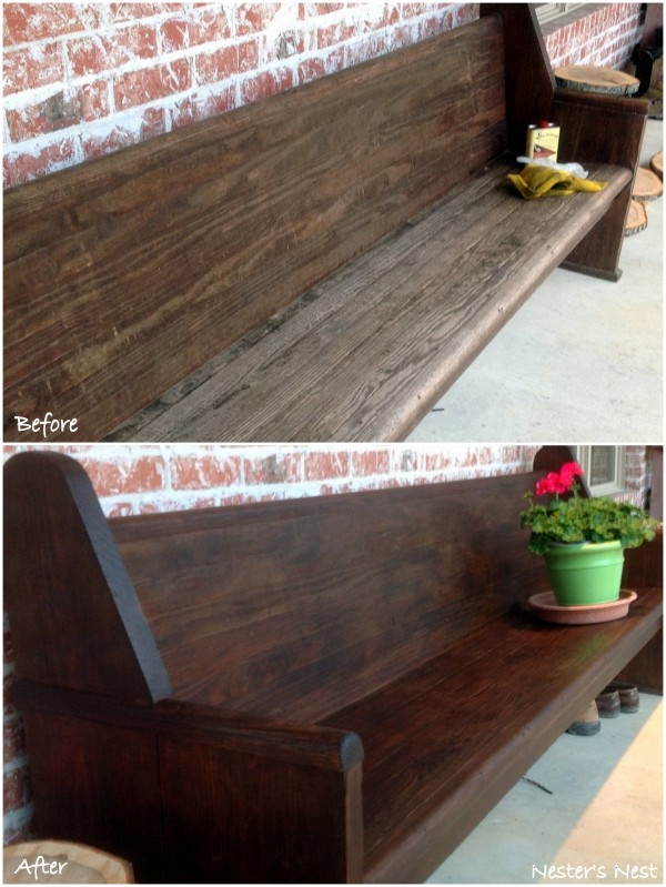 Antique Church Pew Restor A Finish