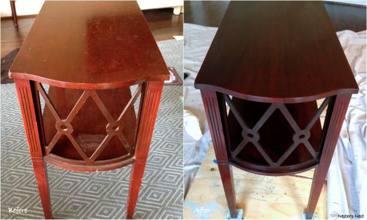 Diamond side table Restor A Finish
