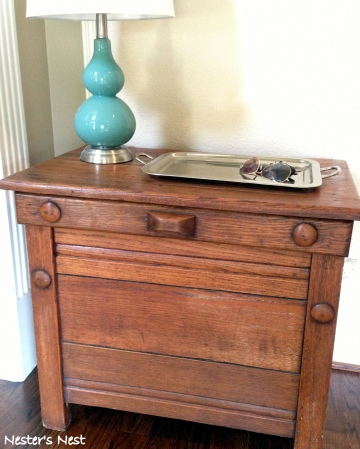 Antique Oak Nightstand After  - NN