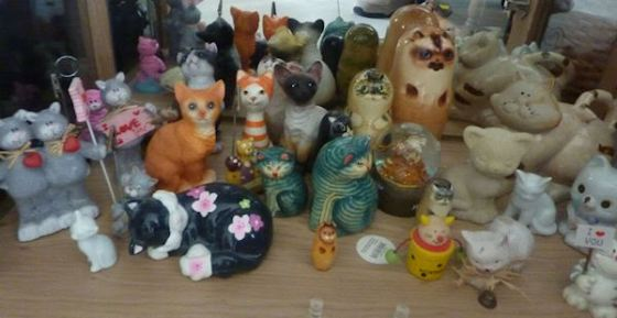 Creepy Cat Figurines
