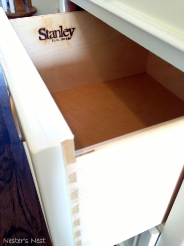 Stanley Desk Open Drawer