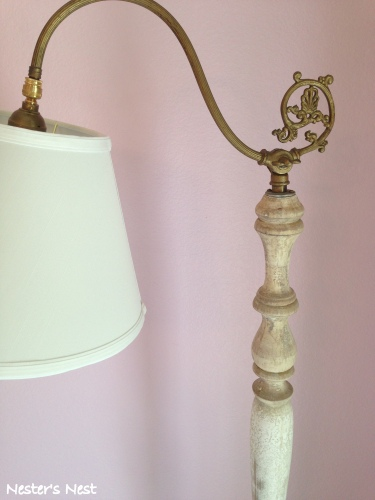 Bridge Lamp After Brass and Shade - NN