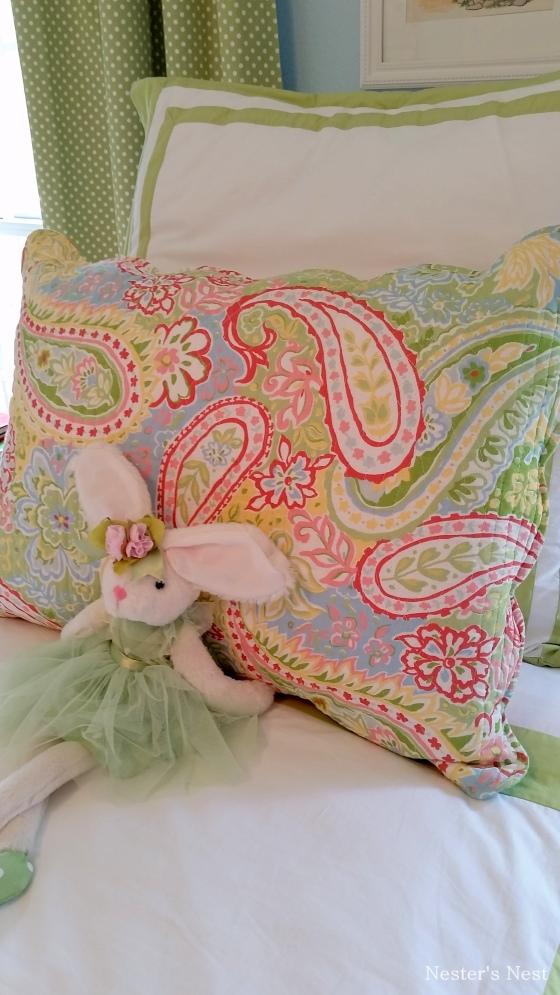 A's Blue Room Bunny on Bed - NN