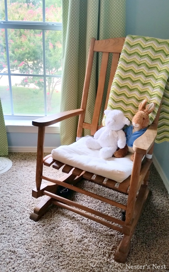 Grandma's Rocking Chair A's Blue Room After - NN
